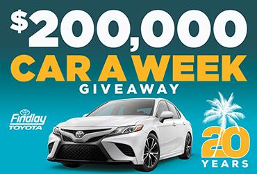 $200,000 20th Anniversary Car-A-Week Giveaway