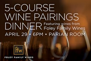 Join us for a 5-course wine pairings dinner!