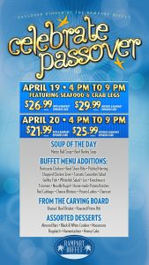 celebrate passover rampart buffet