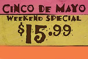 Cinco de Mayo Dining Special at Promenade Cafe