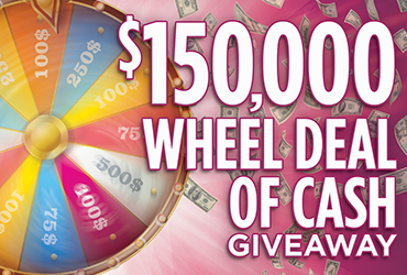$150,000 Wheel of Cash Drawings - Las Vegas Casino