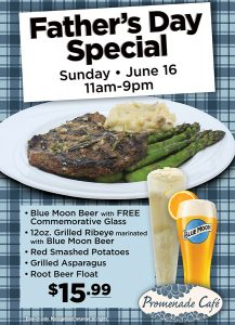 Father's Day Dining Special at Promenade Cafe