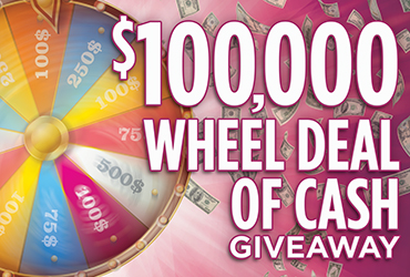 $100,000 Wheel of Cash Drawings - Las Vegas Casino