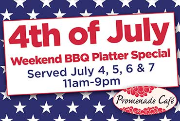 4th of July Weekend BBQ Platter Special
