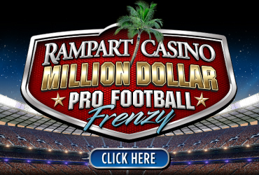 Rampart Casino Million Dollar Pro Football Frenzy