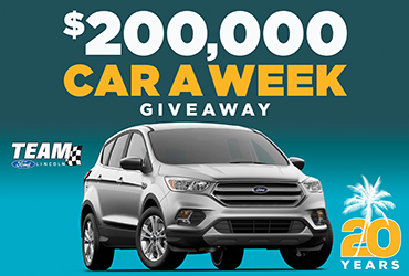 $200,000 20th Anniversary Car-A-Week Giveaway