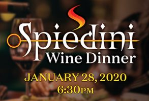 Enjoy our January wine dinner at Spiedini!