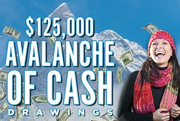 $125,000 Avalanche of Cash Drawings