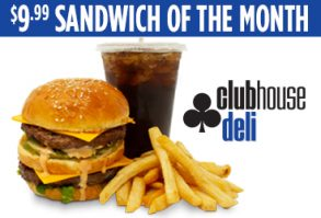 Enjoy the August Deli Special at Clubhouse Deli.