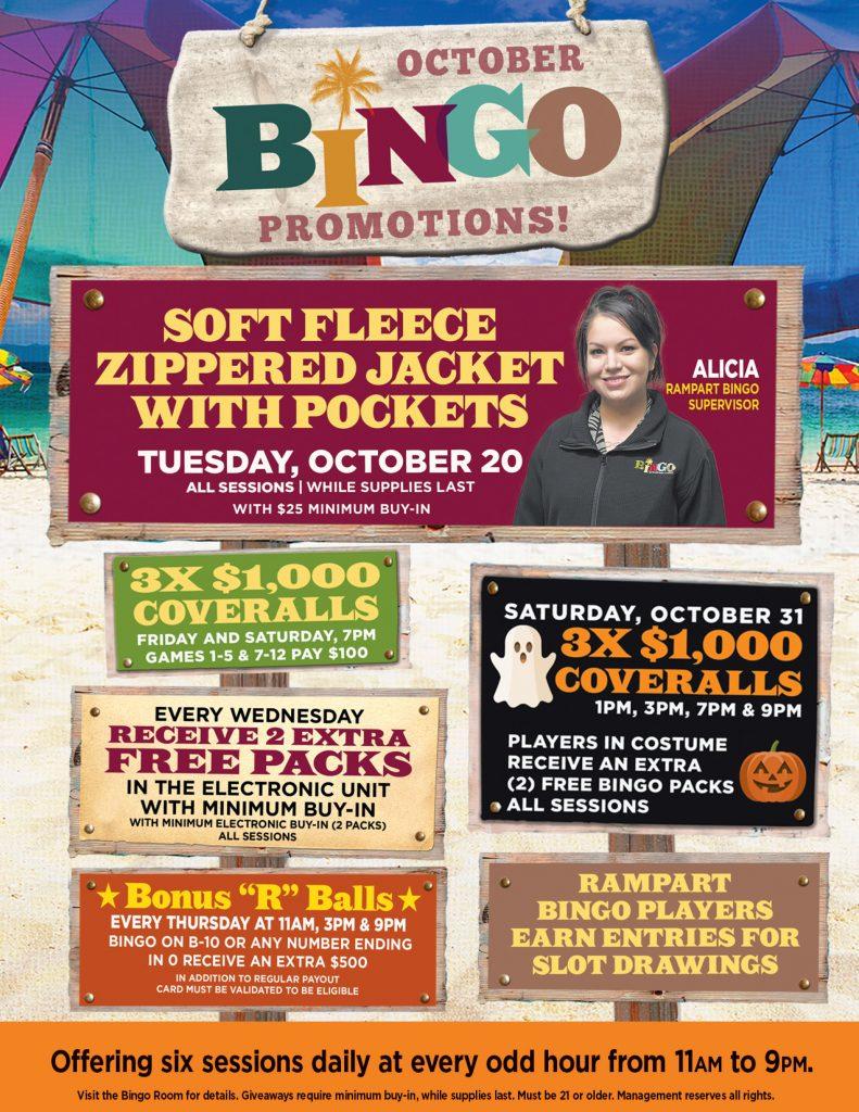 Rampart Casino Bingo promotions are the best.