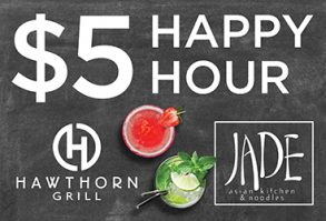 Happy Hour at Jade & Hawthorn Grill