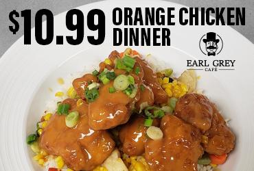 $10.99 Orange Chicken Dinner Special