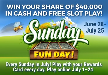 Sunday Fun Day Online Games at Rampart Casino