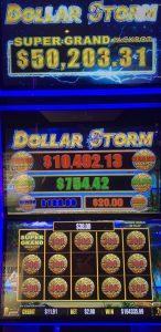 Dollar Storm Super Grand Progressive Jackpot at Rampart Casino