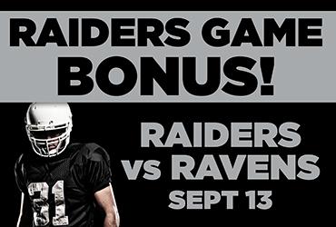 Raiders Game Bonus